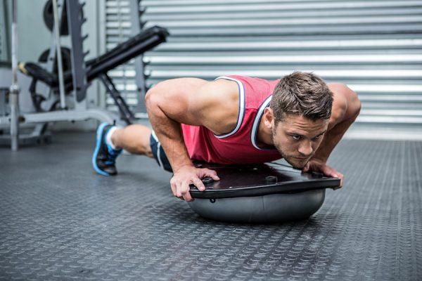 exercicis pectorals amb bosu