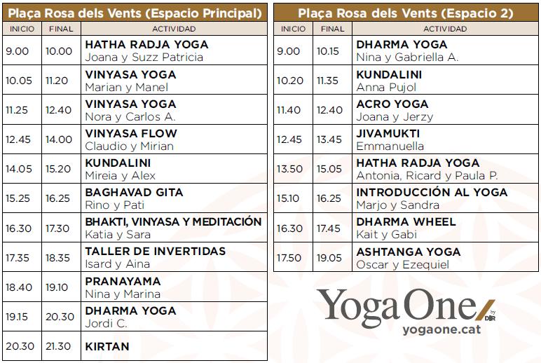 horaris activitats yoga day by dir 2017