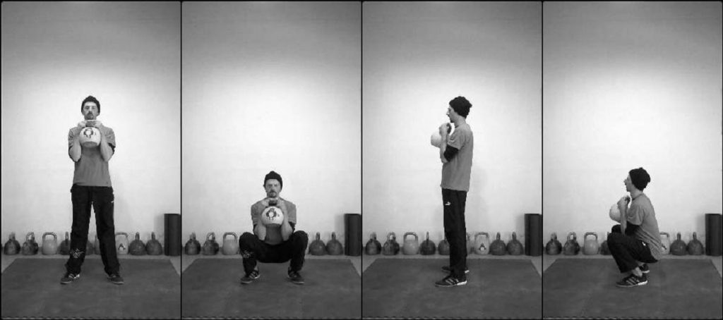 exercici squat amb kettlebell