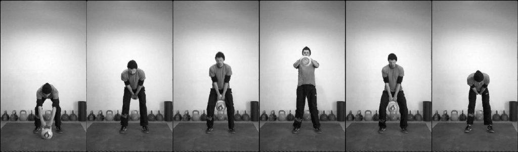 exercici swing amb kettlebell