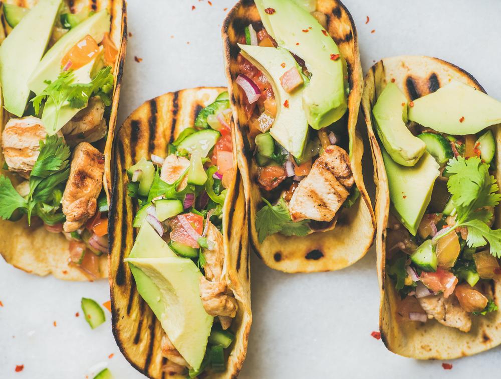 recepta de taco de verdures amb pollastre