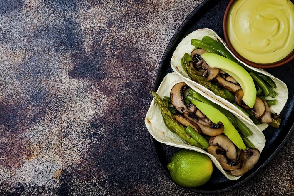 recepta taco de xampinyons i esparrecs