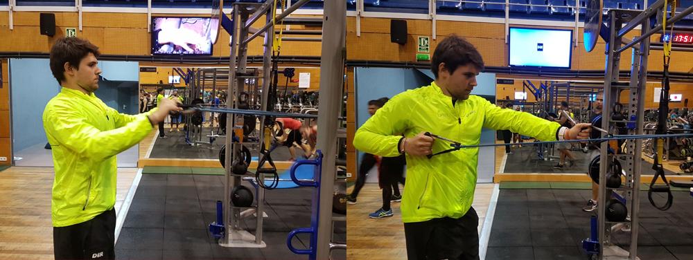 exercicis espatlles millorar la força i la potència en el pàdel