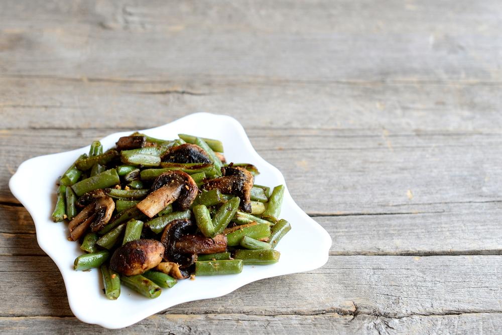 recepta de mongetes amb xampinyos per sopar