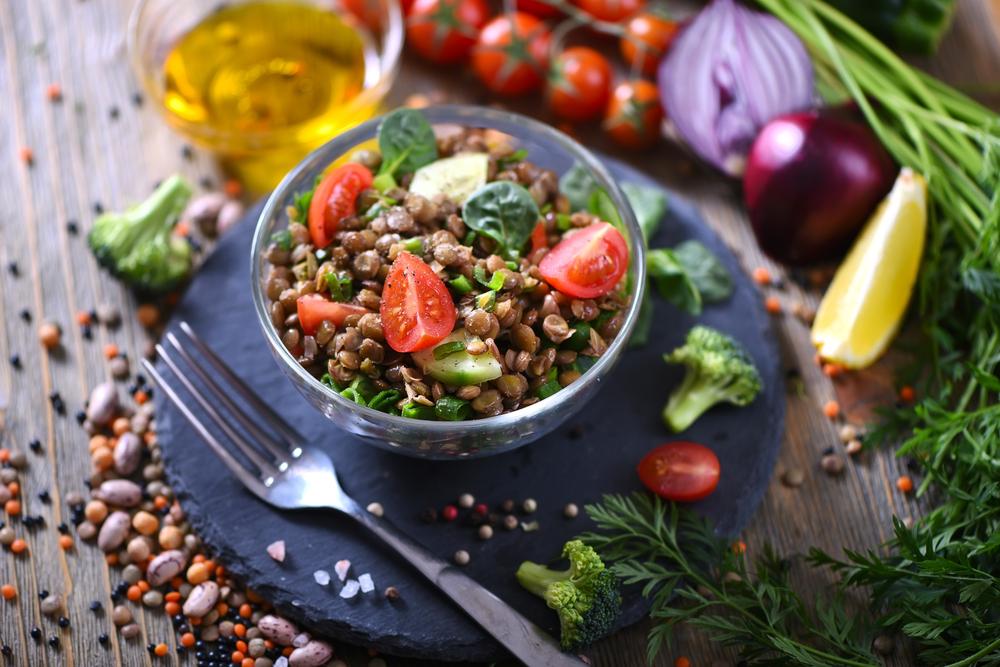 receta de ensaladas de verano de lentejas