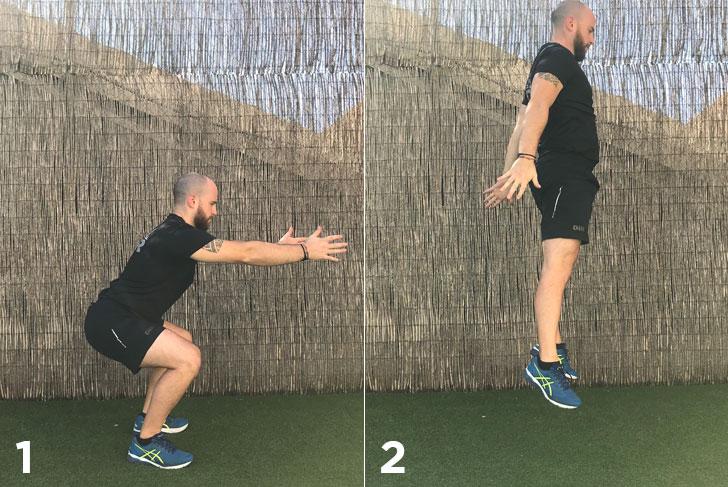 ejercicios jump squat