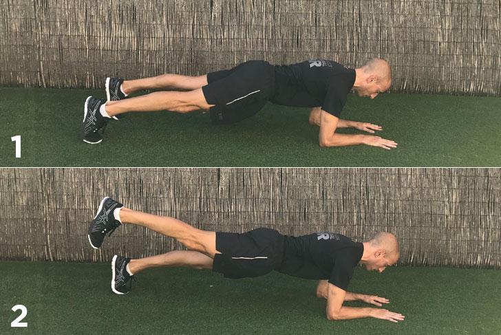 ejercicio plancha a una pierna