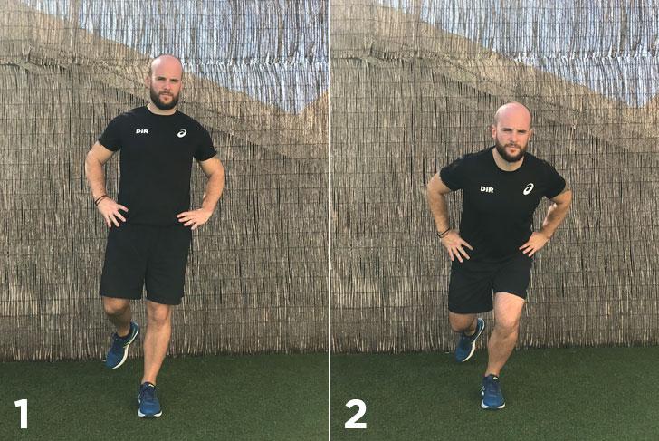 ejercicio sentadilla a una pierna