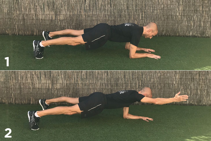exercici planxa a un braç