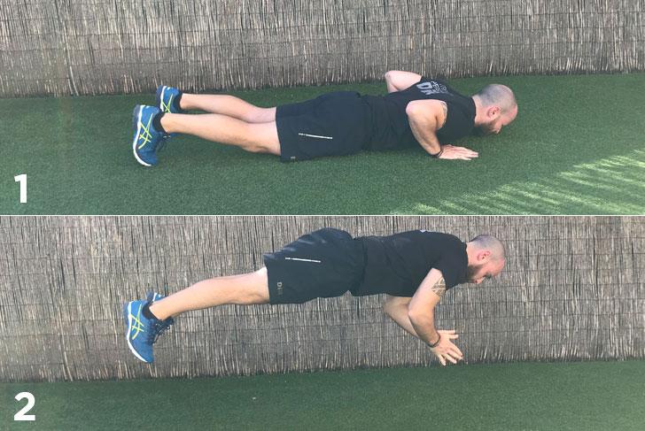 exercici plyometric push up