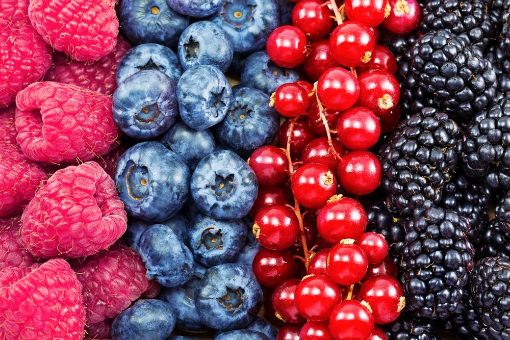 frutas del bosque alimentos saludables