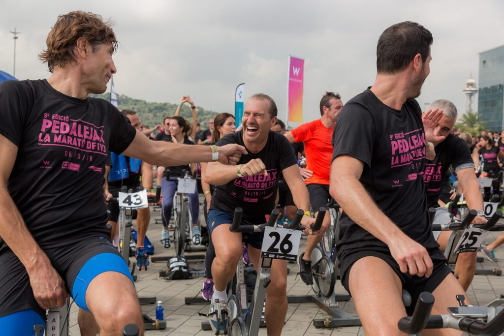 julio salinas i albert luque al pedaleja per la marató