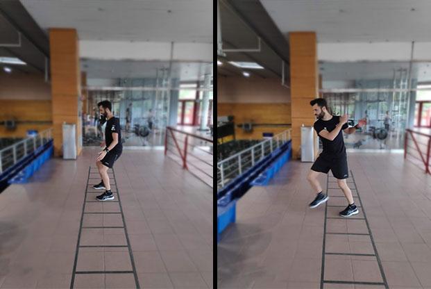 ejercicios con escalera para mejorar la preparación para el padel