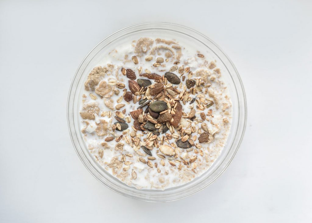 esmorzar de proteines de iogurt i civada