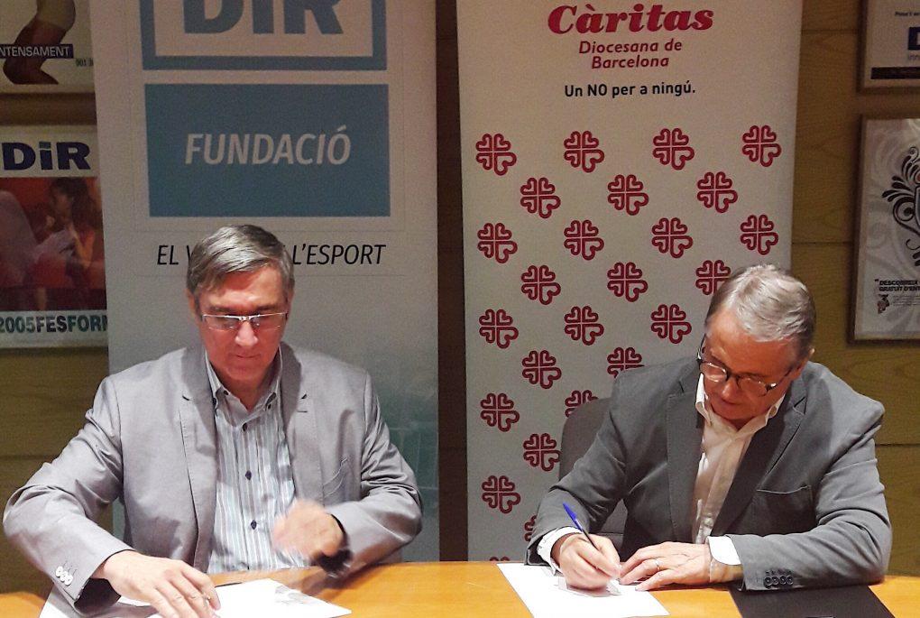 Conveni Càritas Fundació DiR