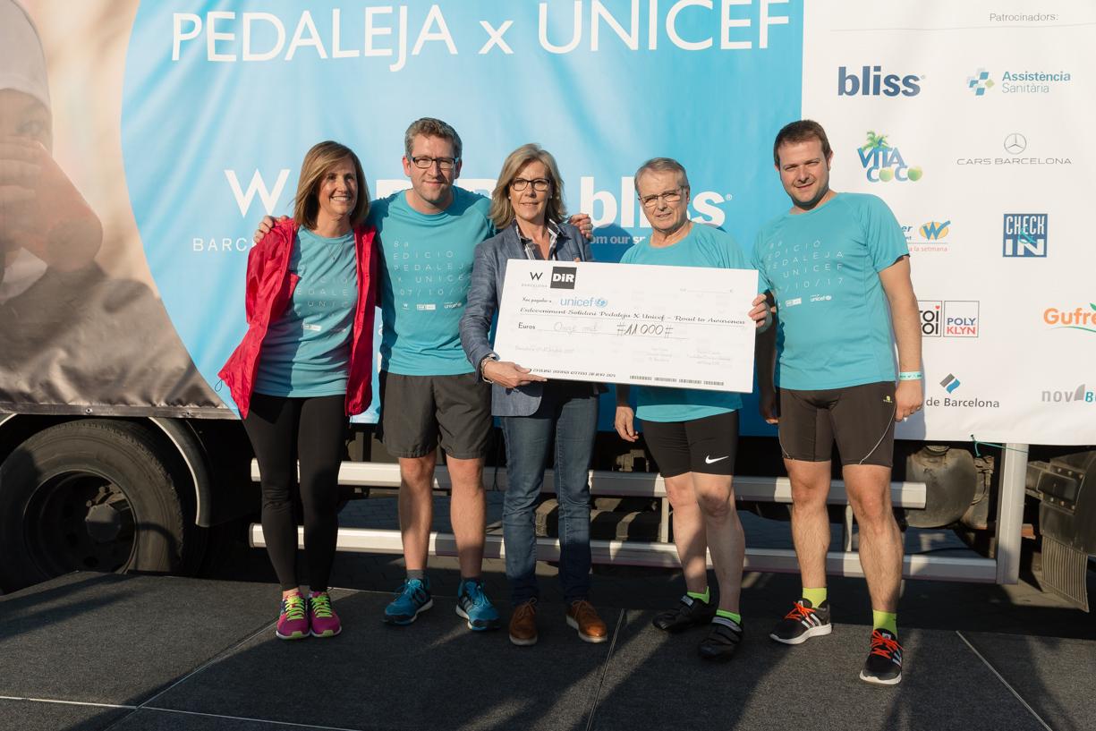 Pedaleja x UNICEF taló 11000 euros