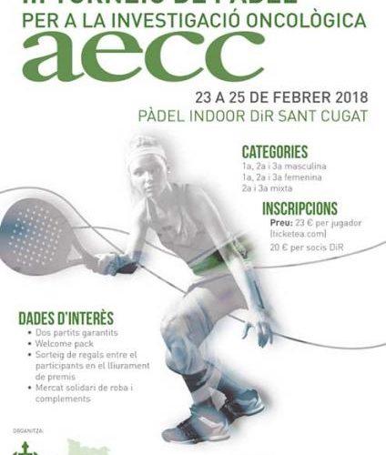 Cartell del Torneig de pàdel Fundació DiR i AECC
