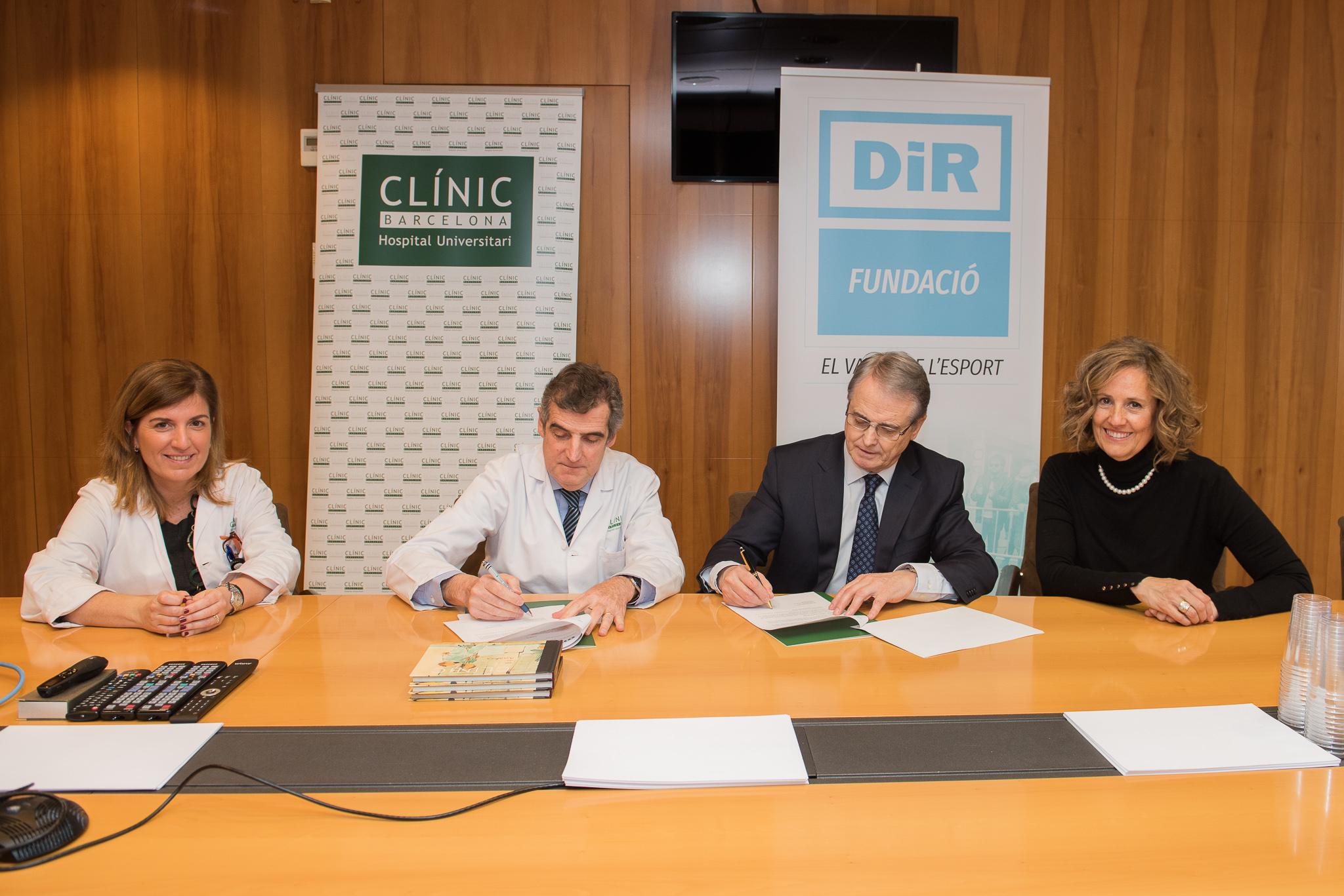 DiR i l'Hospital Clínic firmen un acord per oferir un servei de rehabilitació gratuït a pacients amb problemes cardíacs