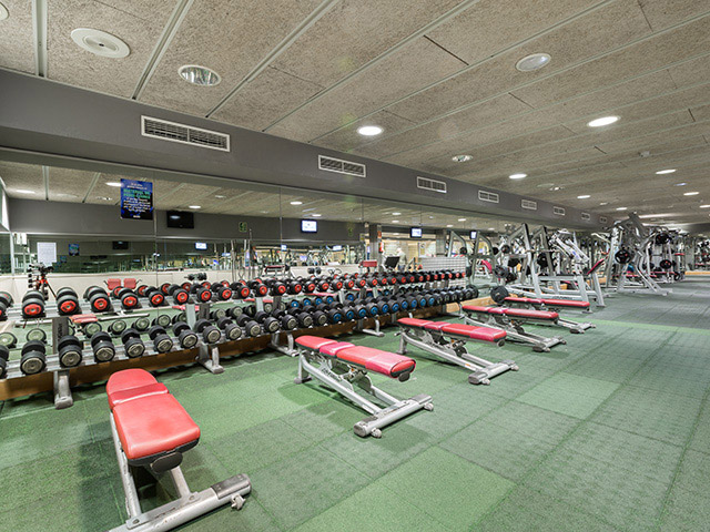 weights training areas